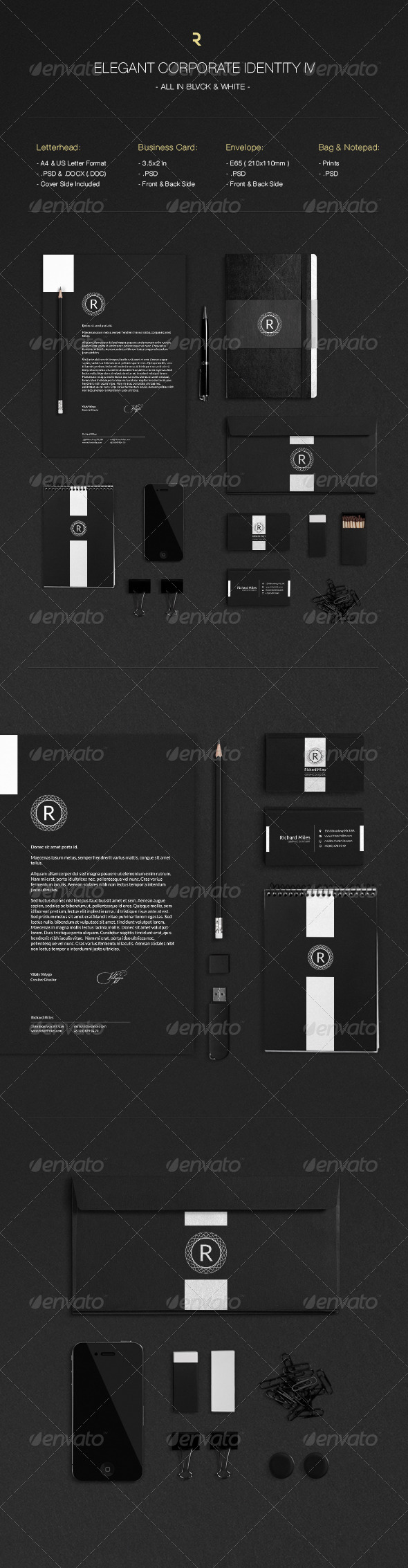 Elegant Corporate Identity IV - Stationery Print Templates