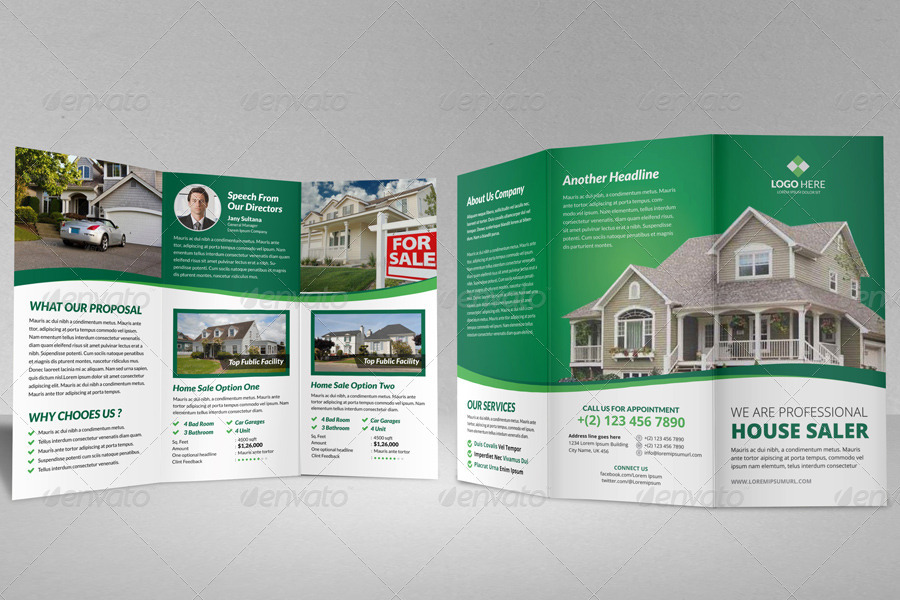 Property Sale Trifold Brochure Template V By Janysultana  Graphicriver