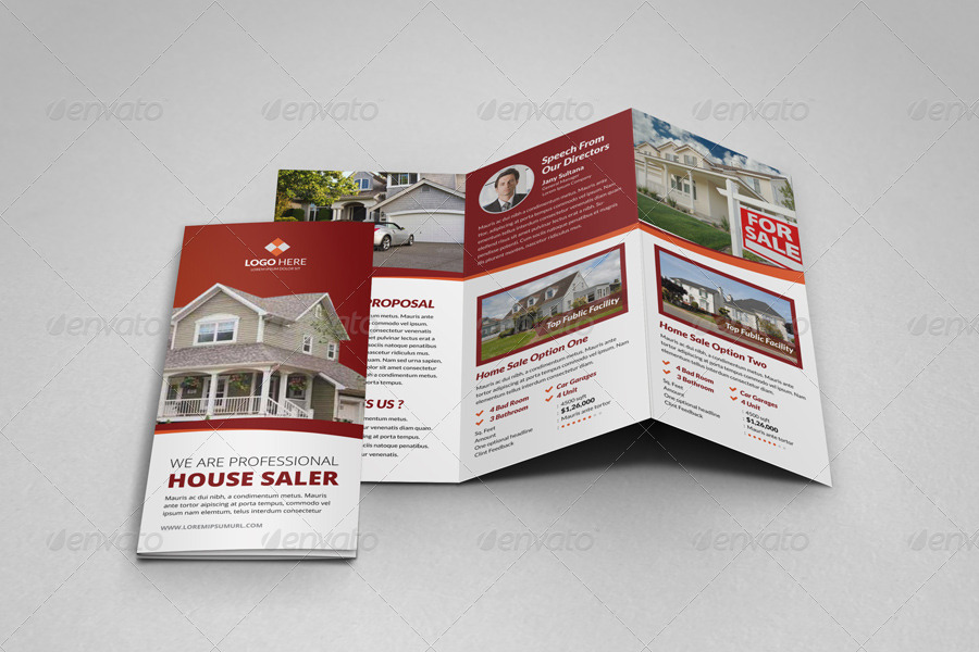 Property Sale Trifold Brochure Template V By JanySultana - House for sale brochure template