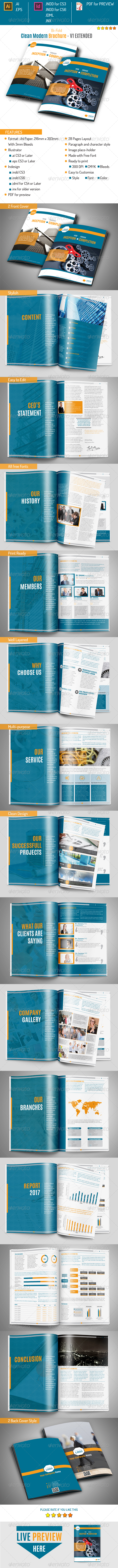 Clean Moderm Brochure v1 Extended - Corporate Brochures