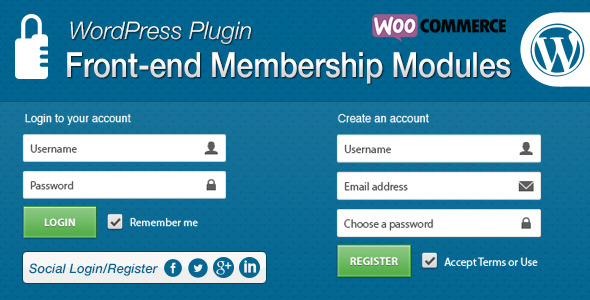 Front-end Membership Modules - CodeCanyon Item for Sale
