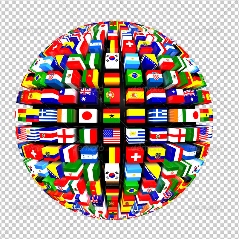 World: World Flags Globe Pack By VolkanKutlubay