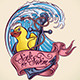 Sink or Swim - Tattoo Design - GraphicRiver Item for Sale