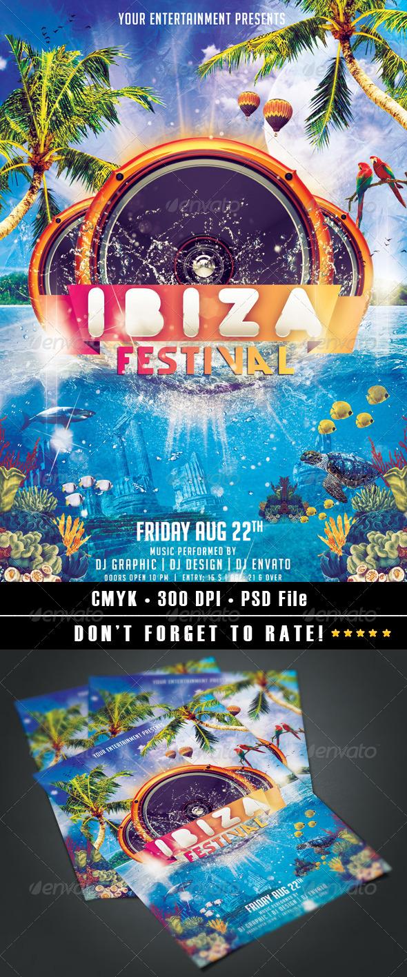 Ibiza Festival Flyer - Events Flyers