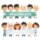 Doctors Presenting Empty Horizontal Banner - GraphicRiver Item for Sale