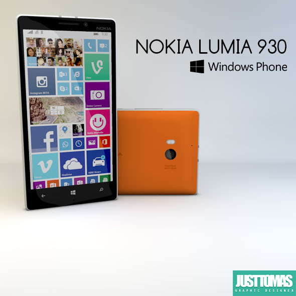 Nokia Lumia 930 - 3DOcean Item for Sale