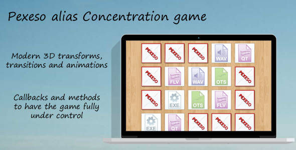 Concentration Game Pexeso - CodeCanyon Item for Sale