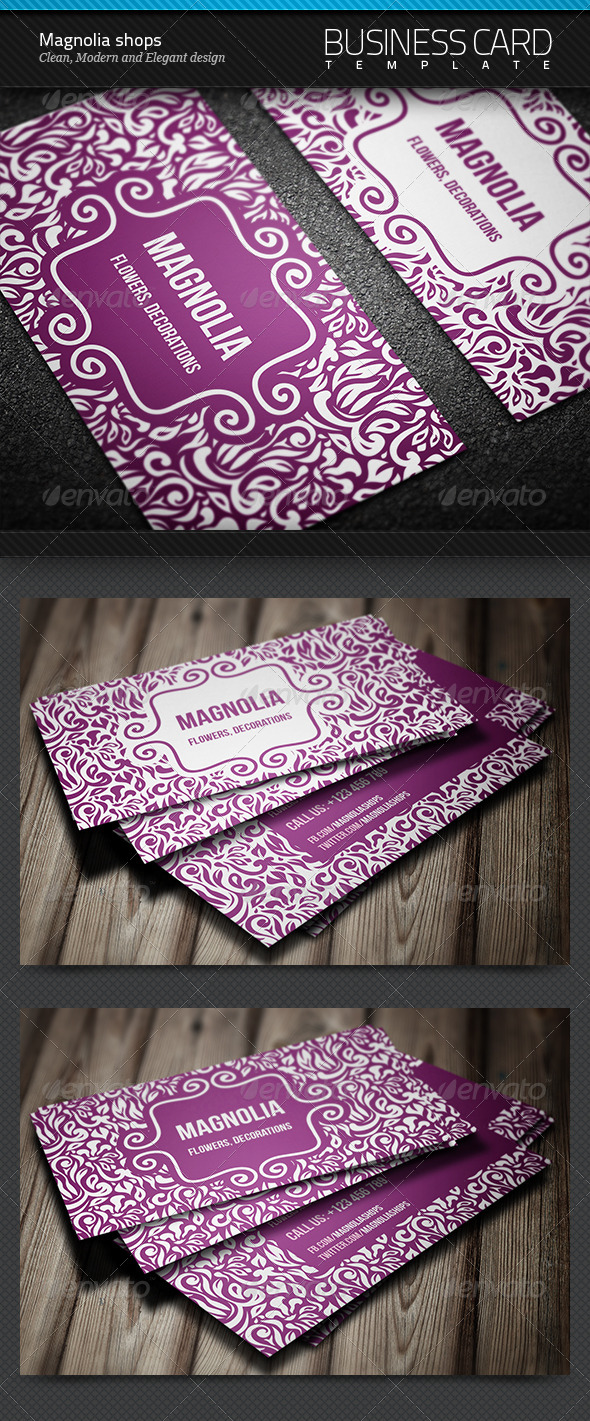 Magnolia Shops Business Card - Creative Business Cards