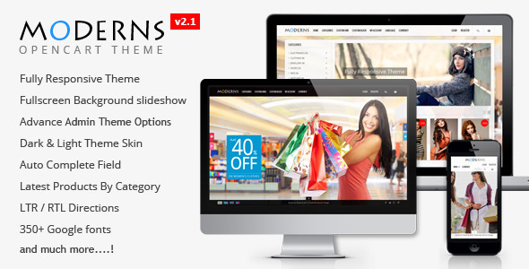Moderns – Fullscreen Background OpenCart Theme