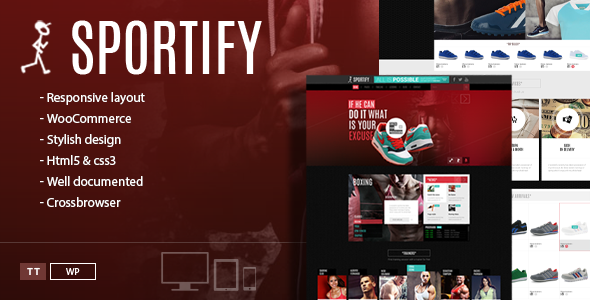 Sportify - Gym WordPress Theme - Health & Beauty Retail