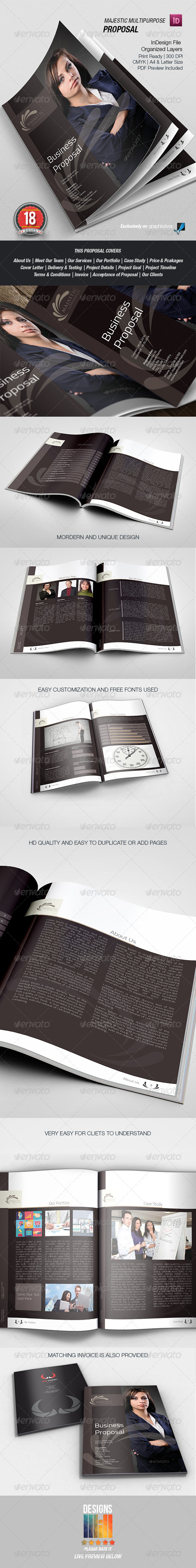 Majestic Business Proposal - Proposals & Invoices Stationery