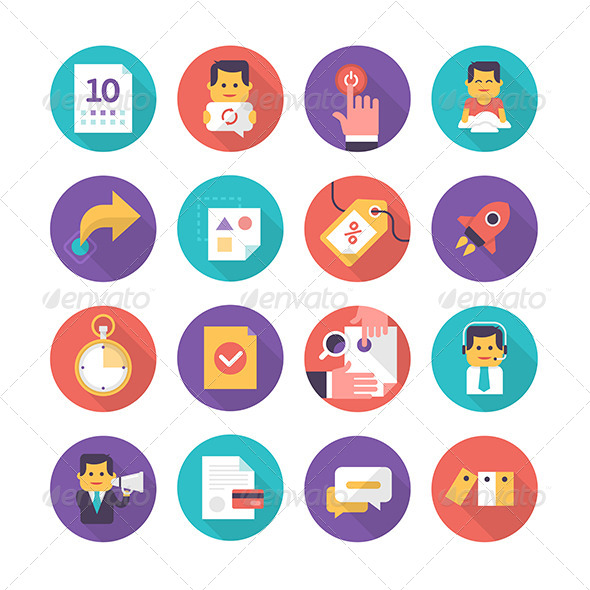 Customer Care and Commerce Icons - Business Icons
