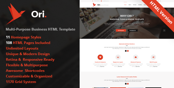 Ori – Multi-purpose Business HTML Template - Business Corporate