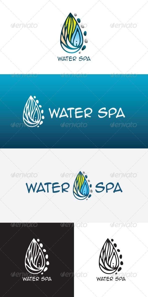 Water Spa Stock Logo Template