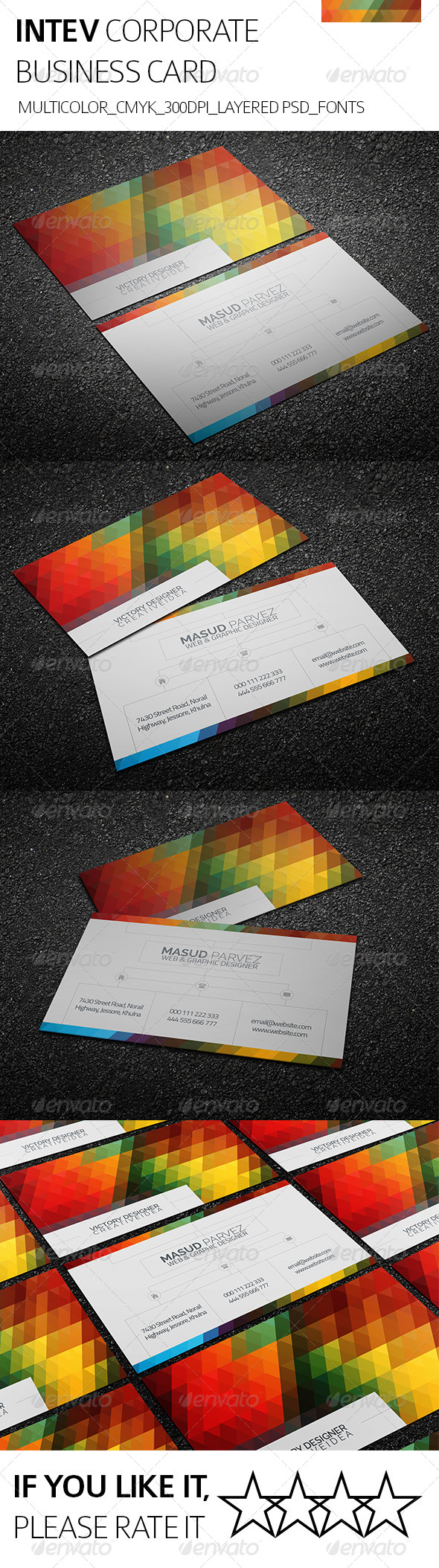 Intev & Corporate Business Card - Corporate Business Cards