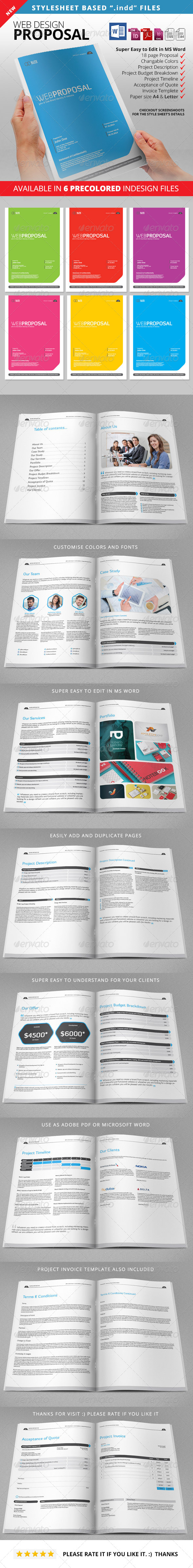 Proposal - Web Proposal - Proposals & Invoices Stationery