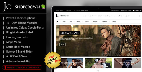Shopcrown - Responsive Prestashop Theme