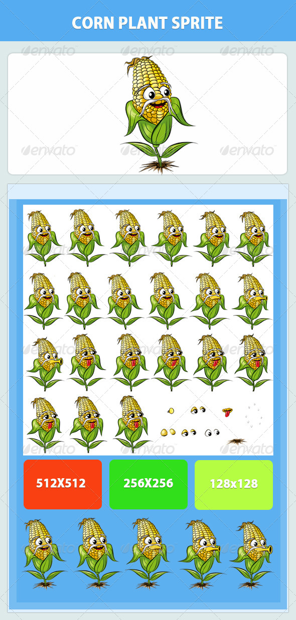 Corn Plant Game Sprite - Sprites Game Assets