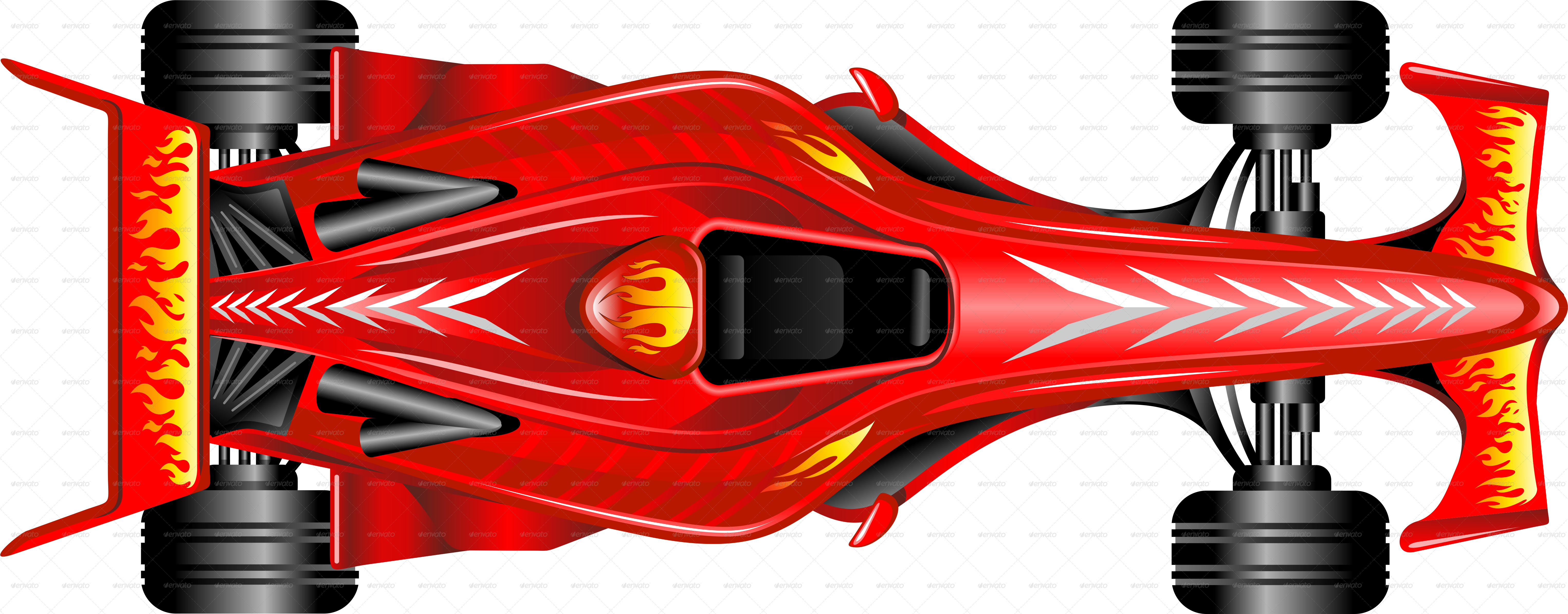 Formula Red Race Car On Checkered Background By Bluedarkat