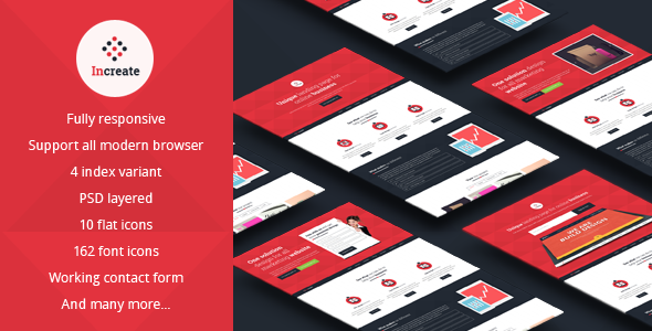 Increate-Onepage and multipurpose landing page