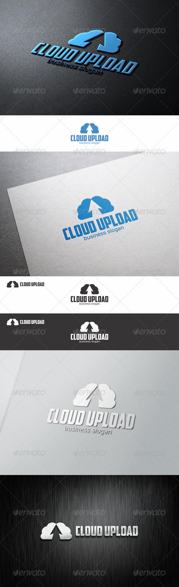 Cloud Up - Upload Hosting Logo - Nature Logo Templates