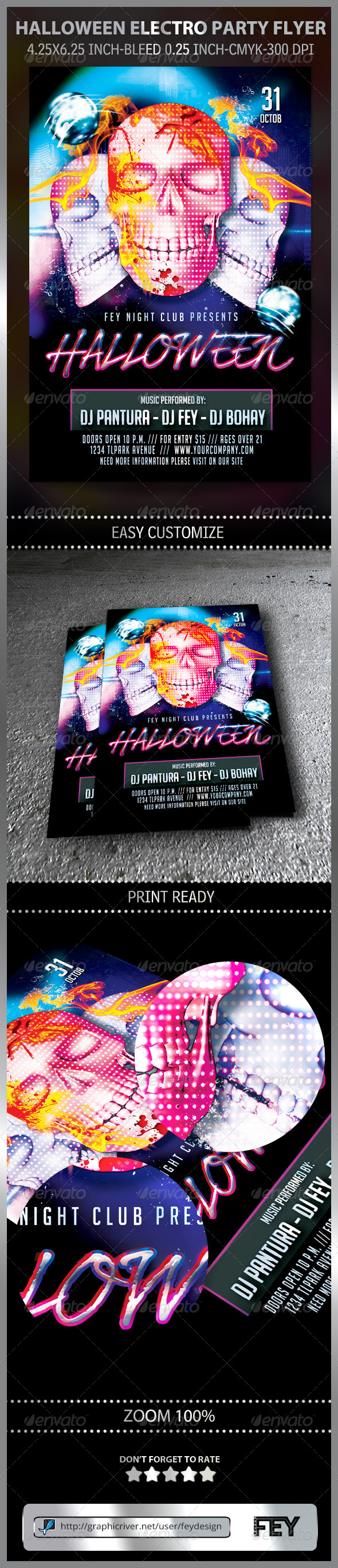 Halloween Electro Party Flyer