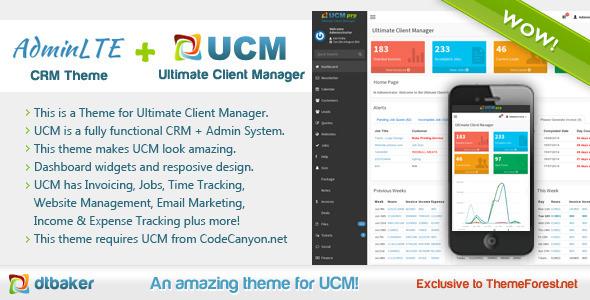 UCM Theme: AdminLTE CRM - Miscellaneous CMS Themes