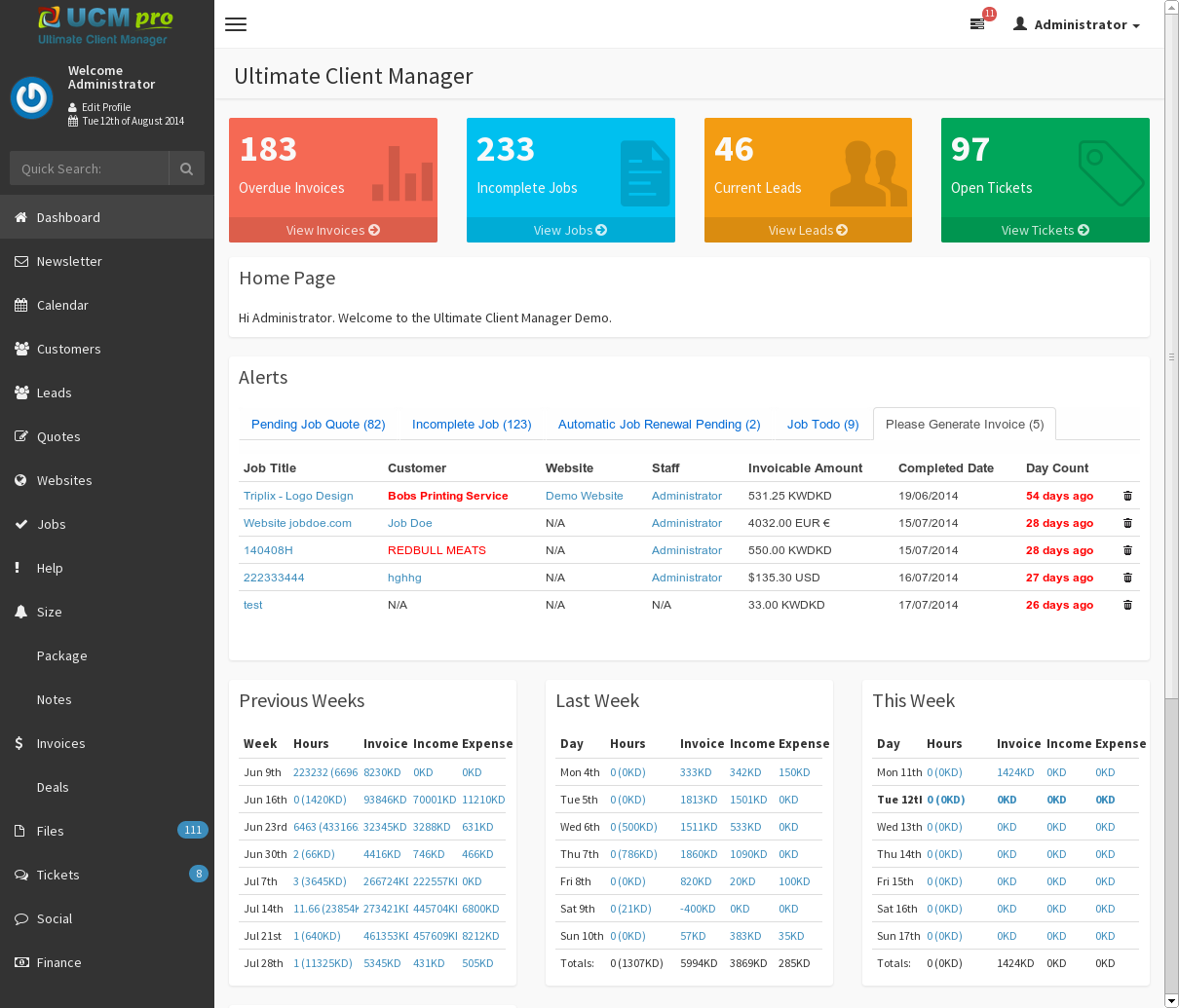 Ucm Theme Adminlte Crm By Dtbaker Themeforest