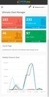 2b.ucm crm dashboard mobile.  thumbnail