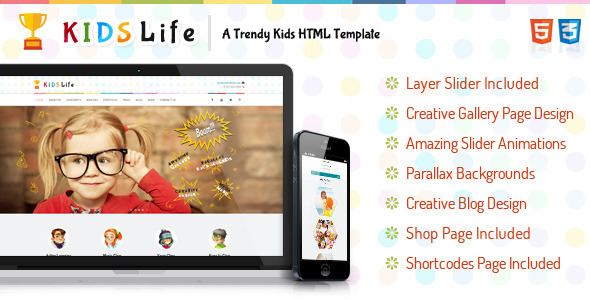 Kids Life - A Trendy Kids HTML Template - Children Retail
