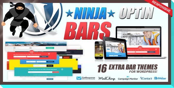 Optin Bars Pack for Ninja Popups - CodeCanyon Item for Sale