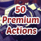 50 Premium Actions - GraphicRiver Item for Sale
