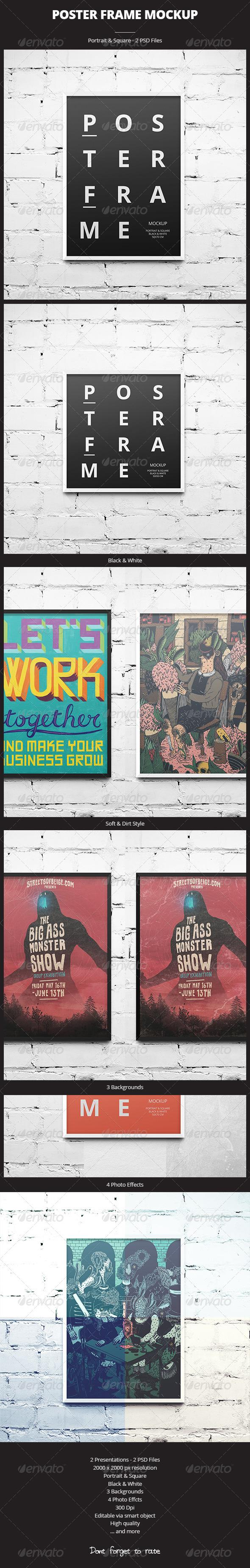 Poster Frame Mockup - Print Product Mock-Ups