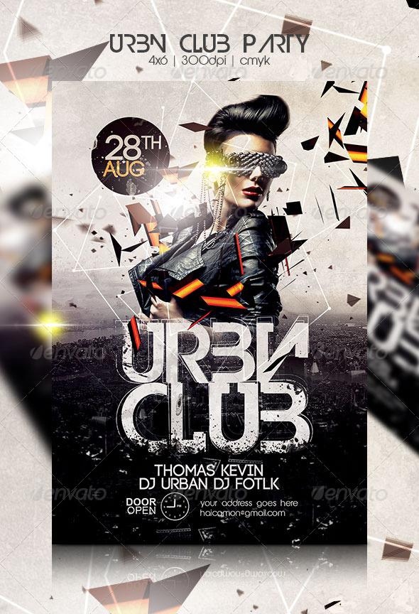 urban club party flyer by haicamon