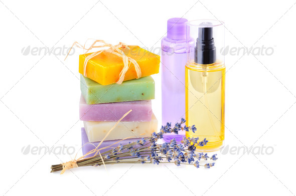 Handmade soaps and lotions - Stock Photo - Images