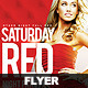 Flyer Saturday Red Night Party - GraphicRiver Item for Sale