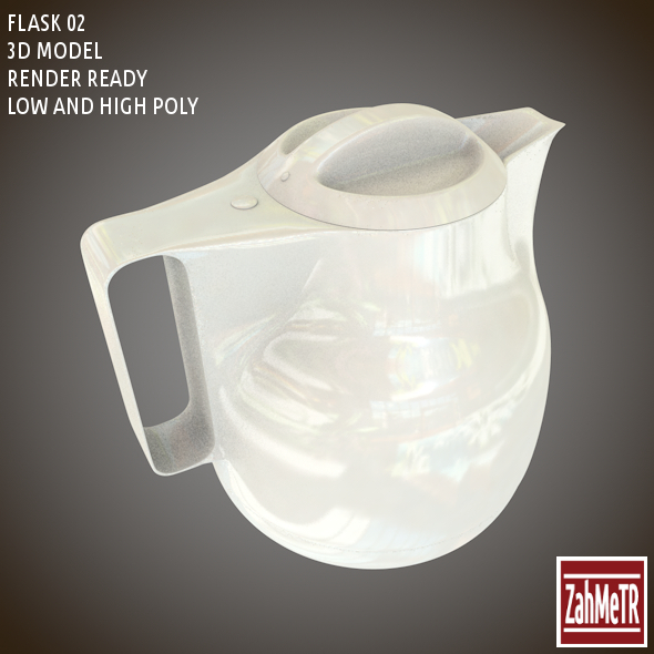 Flask 02 Low - High Poly - 3DOcean Item for Sale