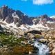 Mountain Stream With Snowy Mountain Peak - VideoHive Item for Sale