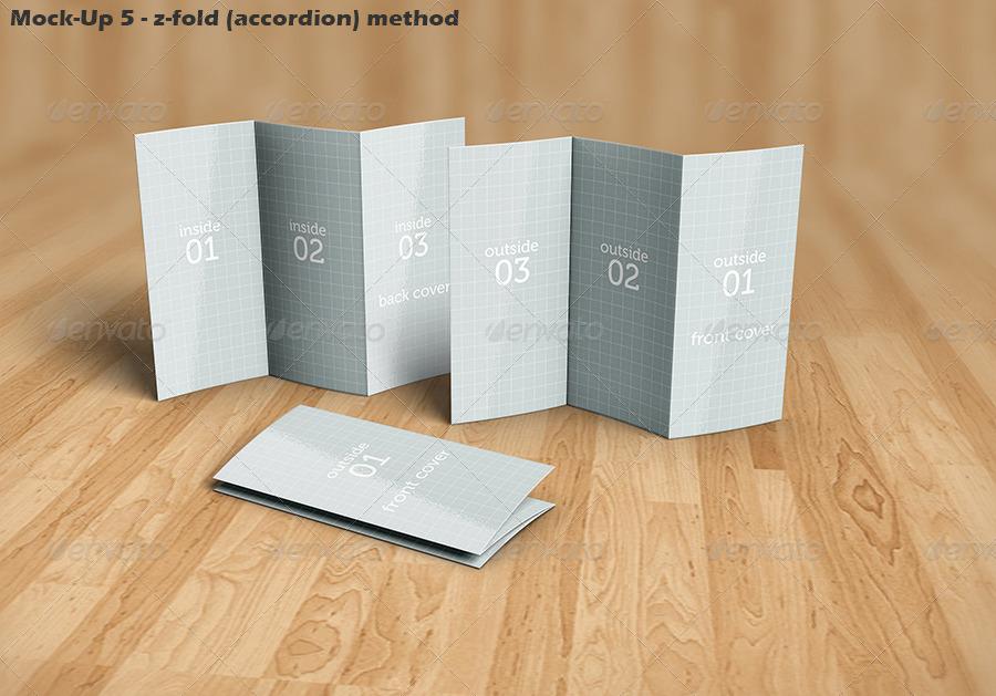 Tri-Fold Brochure Mock-Up Kit by Logic_Design   GraphicRiver
