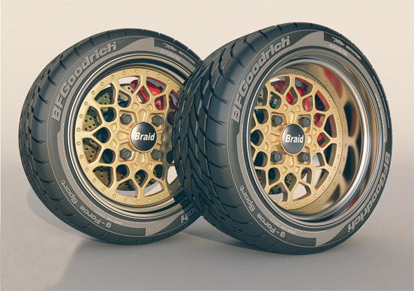 Braid 4 RC wheel + tyre  - 3DOcean Item for Sale