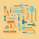 Flat Tools Icons Set - GraphicRiver Item for Sale