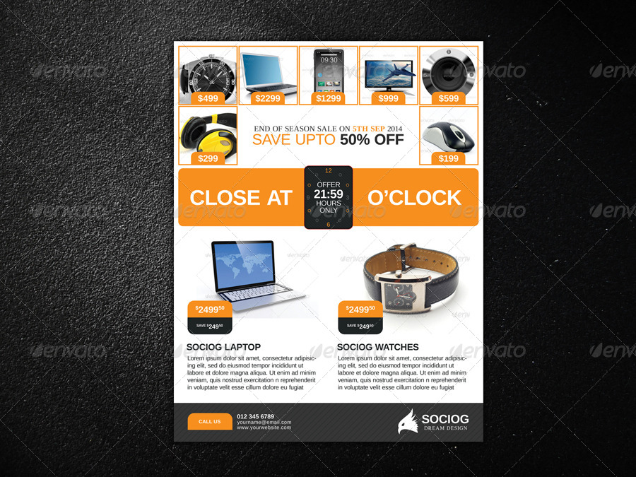 Product Flyer By Axnorpix  Graphicriver