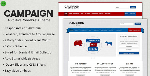 Campaign – Political WordPress Theme