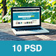 Laptop Screen Mockup - 10 PSD files - GraphicRiver Item for Sale