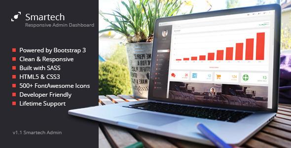 Smartech – HTML5 Admin Dashboard Template