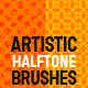 Halftone Retro or Vintage Effect; Unique Brushes - GraphicRiver Item for Sale
