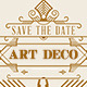 Wedding Save the Date Post Card - Art Deco 04 - GraphicRiver Item for Sale