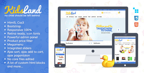 Kids Land – CS-Cart Children Store Theme