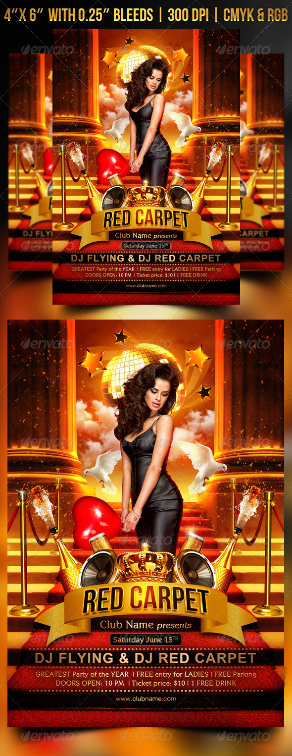Red Carpet Flyer Template by Gugulanul | GraphicRiver