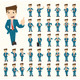 Set of Businessman Characters Poses - GraphicRiver Item for Sale
